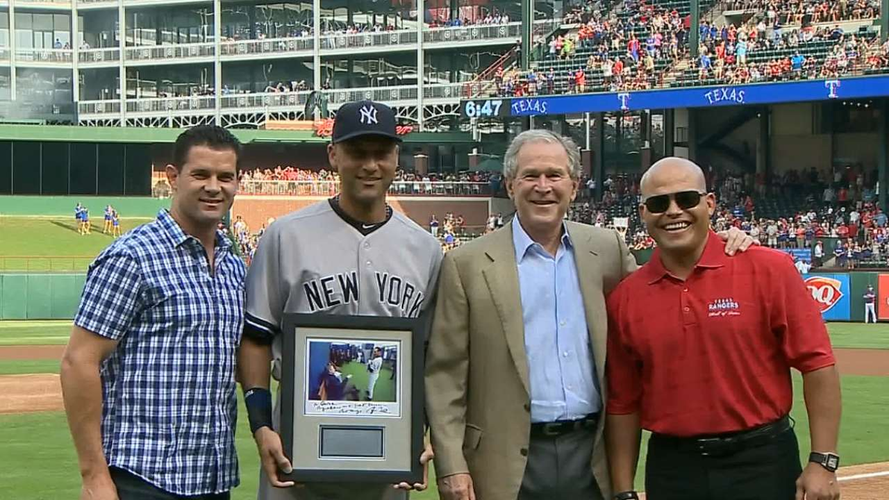 Jeter gets presidential sendoff from Bush in Texas