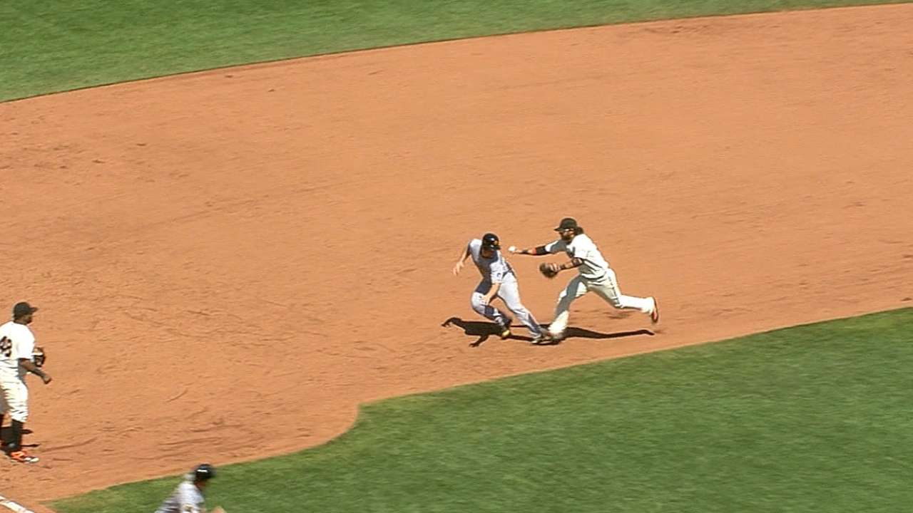 Pirates' mistake leads to wild double play