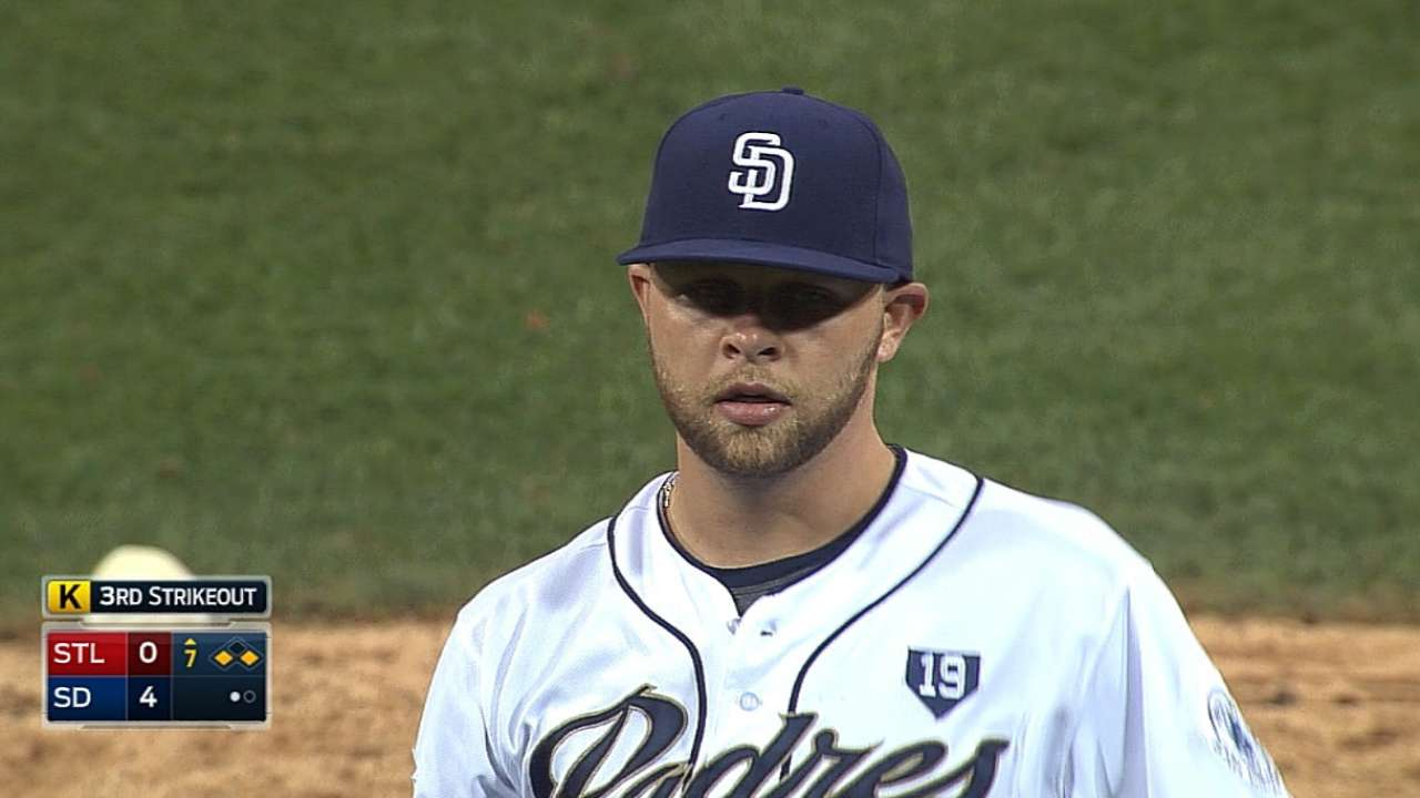 Hahn in control as Padres erupt on offense