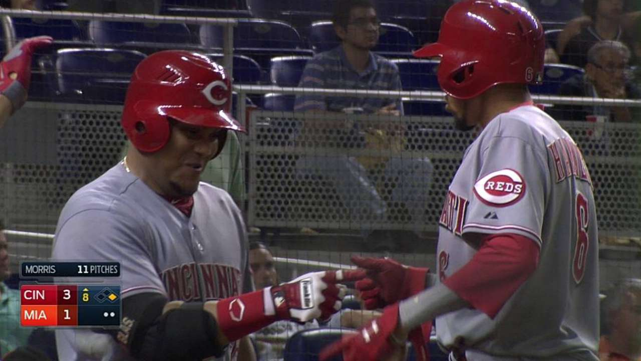 Reds capitalize after call to sink Marlins