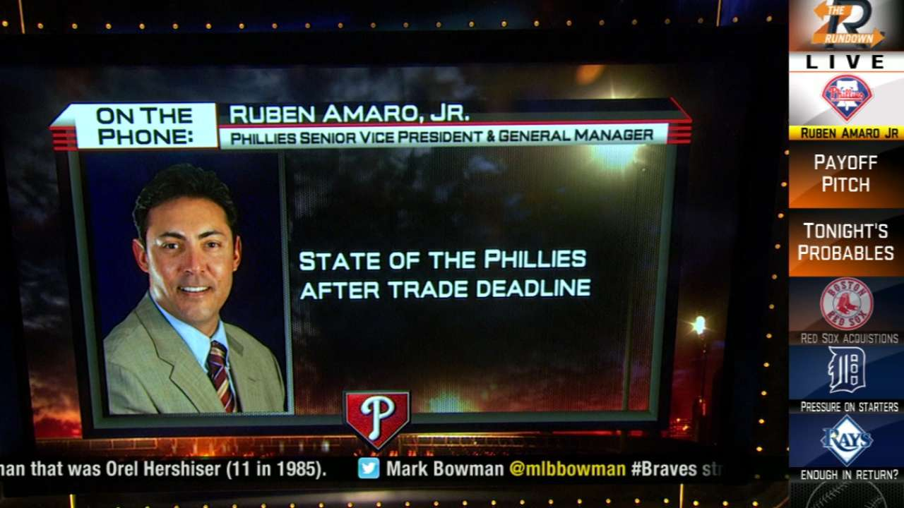 Phils president: GM Amaro 'not on the hot seat'