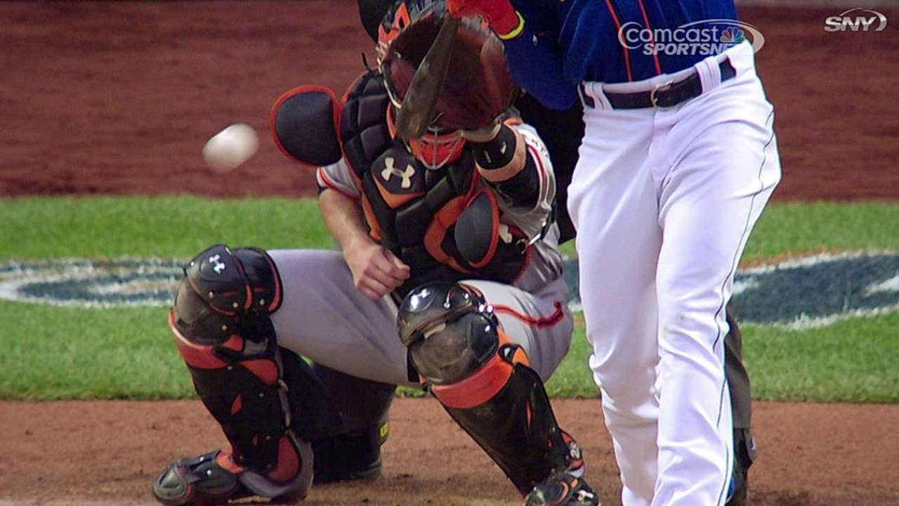 Giants get hit-by-pitch call overturned