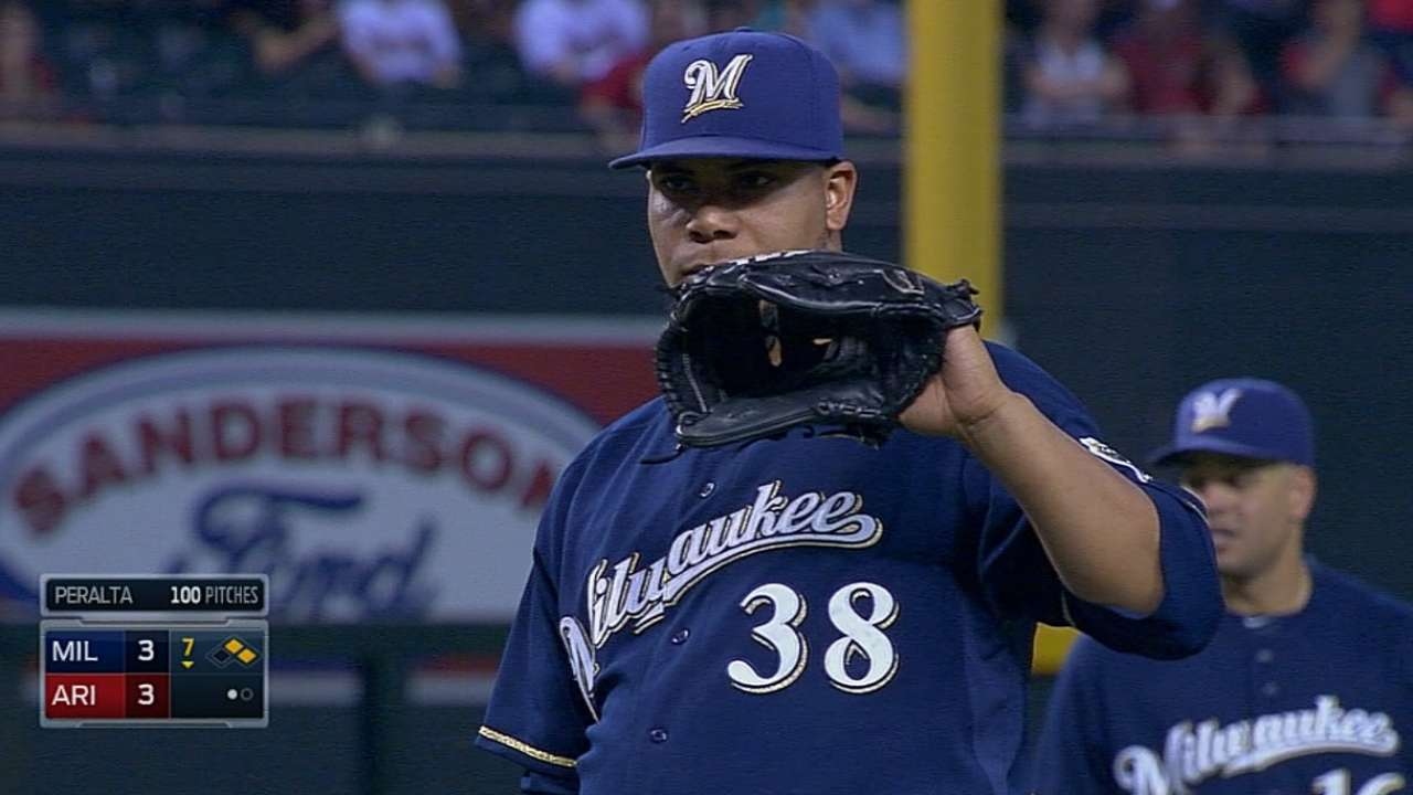 Parra, Peralta put plunking in the past
