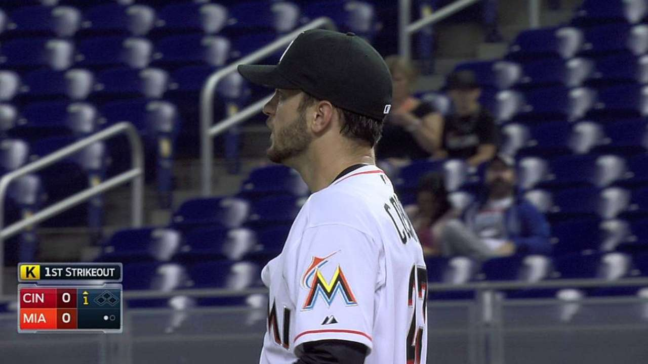 Marlins' rotation facing test as innings mount