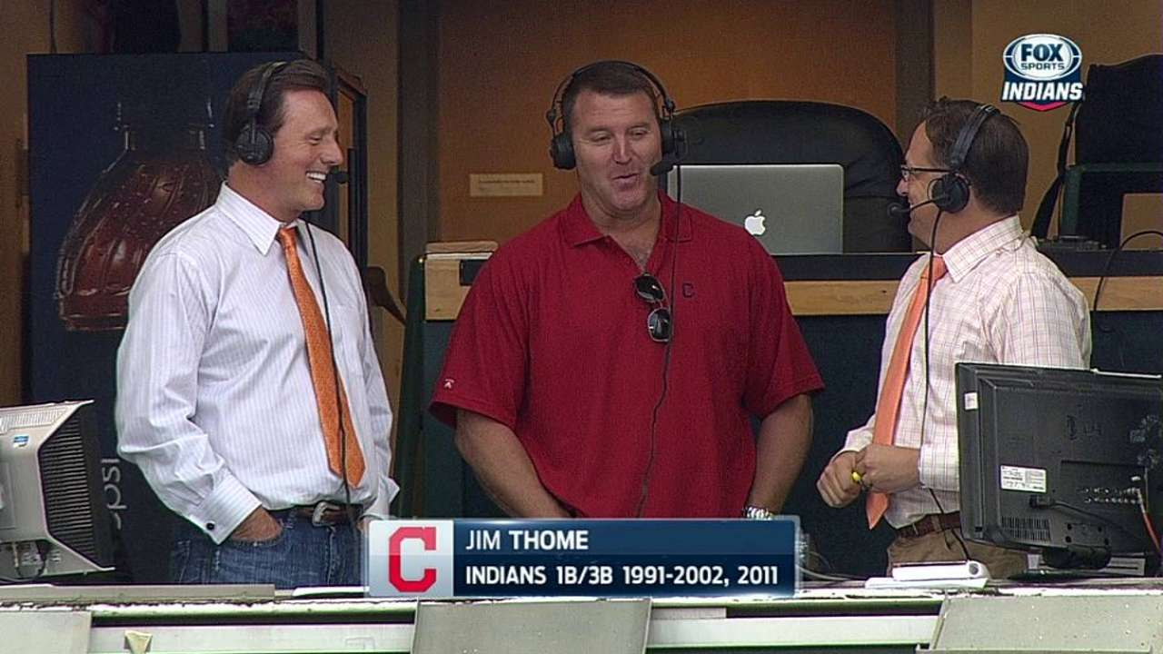 Thome gives credit to Manuel in speech