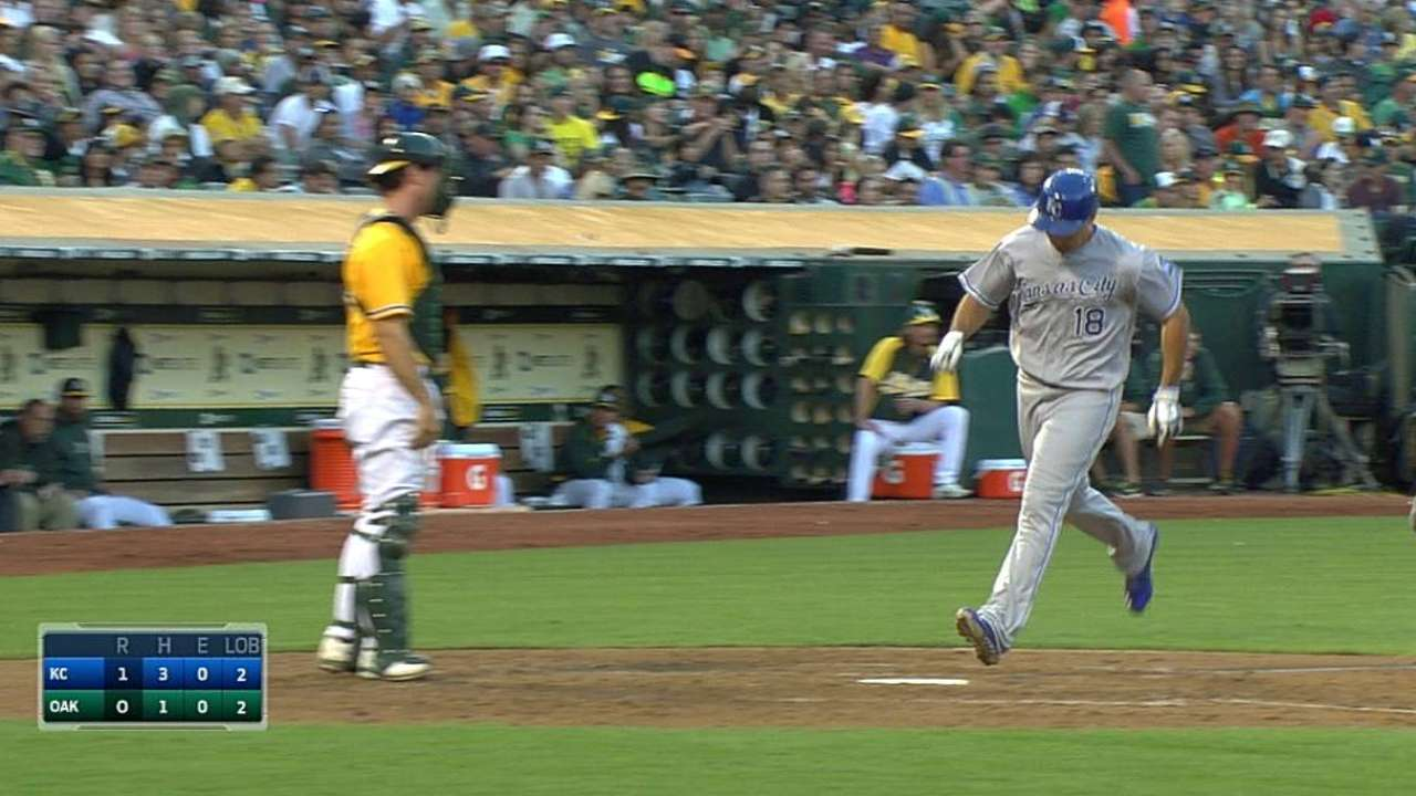 Royals blank A's as Ibanez's homer provides offense
