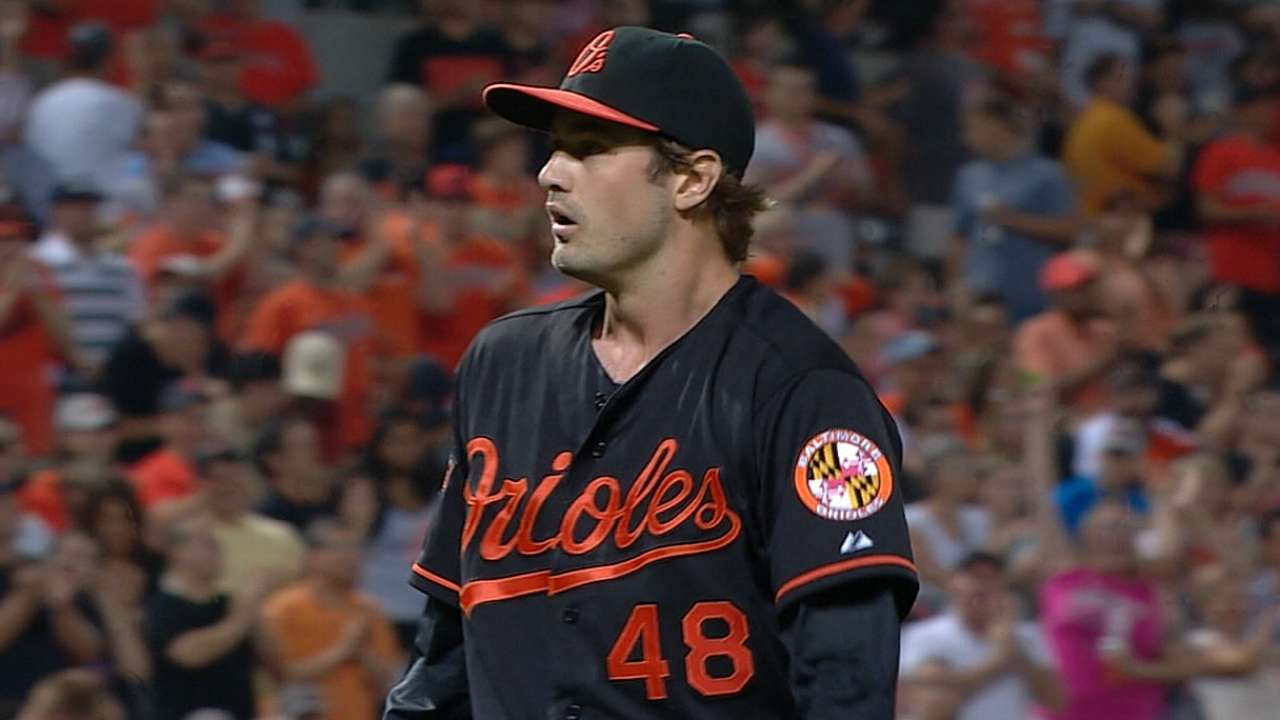 In O's debut, Miller rises to the occasion
