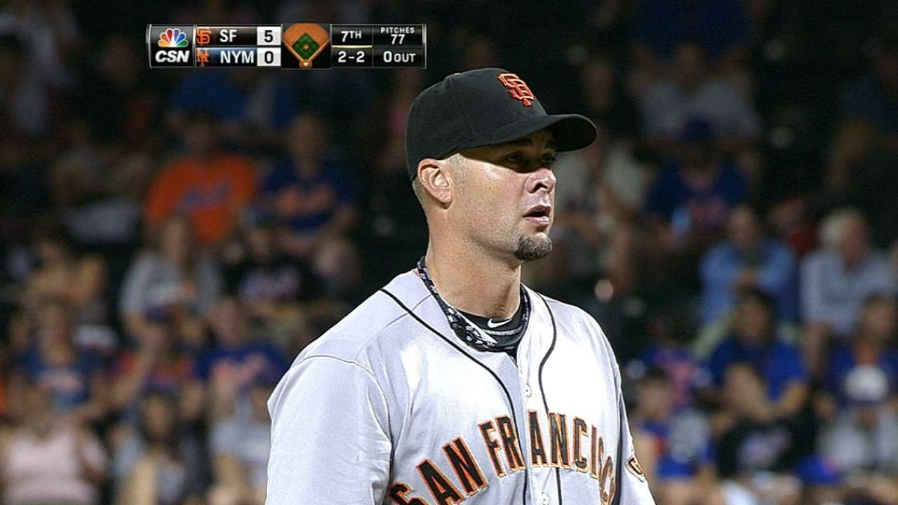 Vogelsong makes quick work of Mets in two-hitter