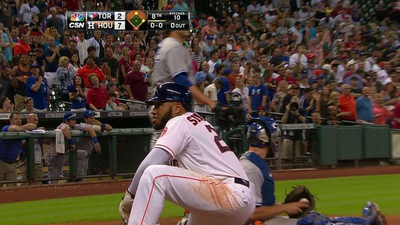 Astros win challenge on inside-the-park HR