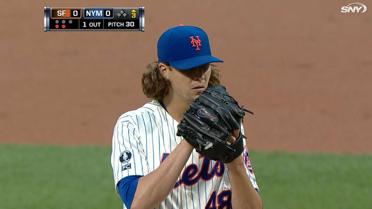 deGrom tabbed NL Rookie of Month for July