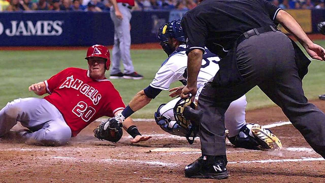 Angels on short end of two reviews vs. Rays