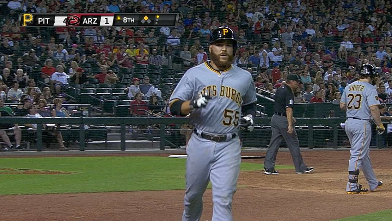 Pirates again pound D-backs 'pen, which hits back