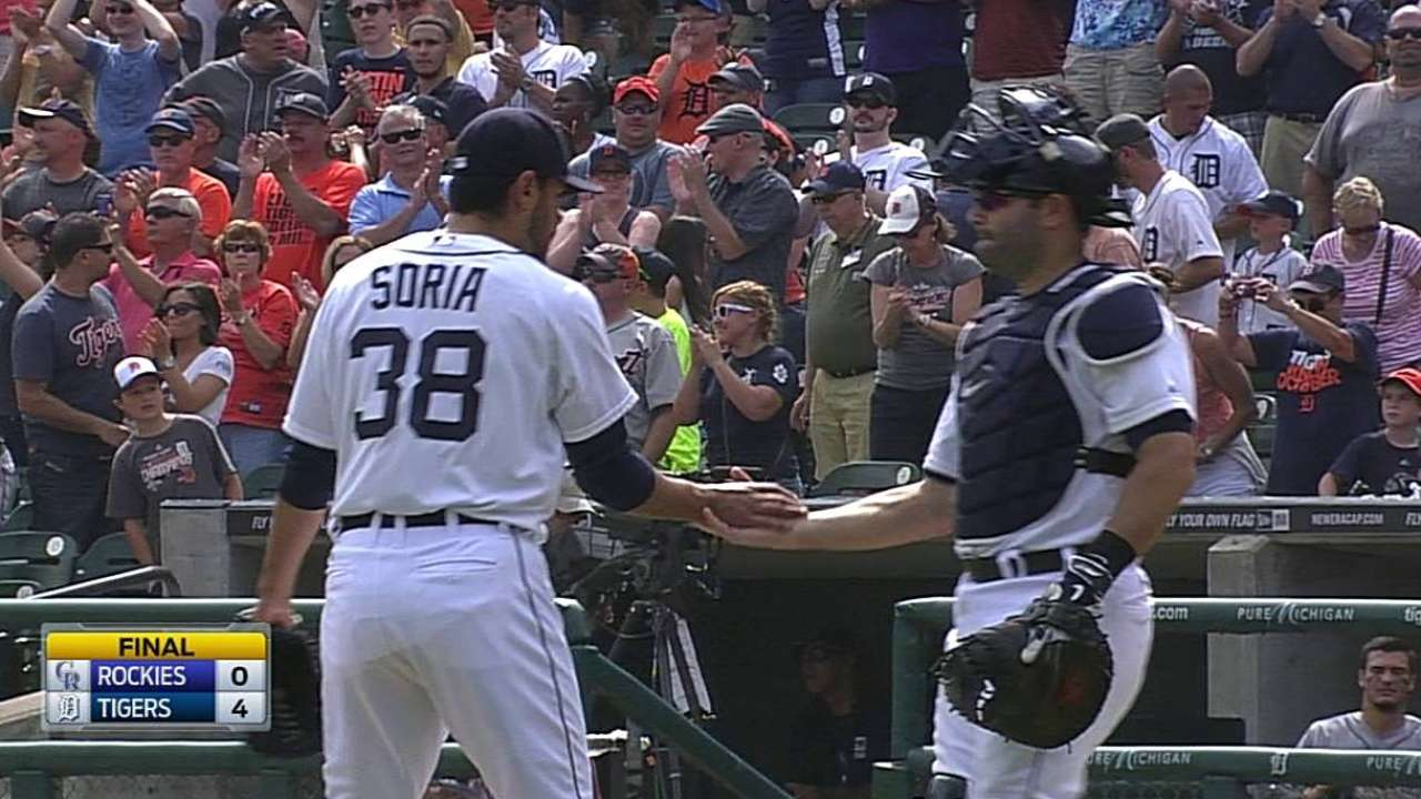 Soria encouraged by lengthy mound session
