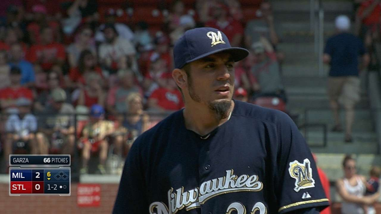 Garza shows progress in bullpen session