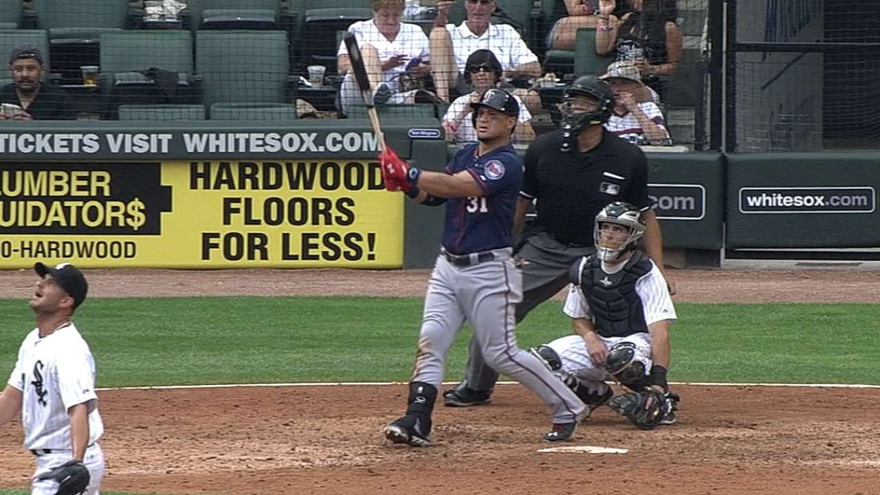 Twins hit back-to-back-to-back homers in blowout