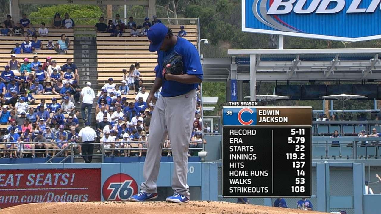 Cubs take series behind improved Jackson