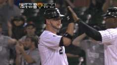 Flowers powers White Sox to rain-shortened win