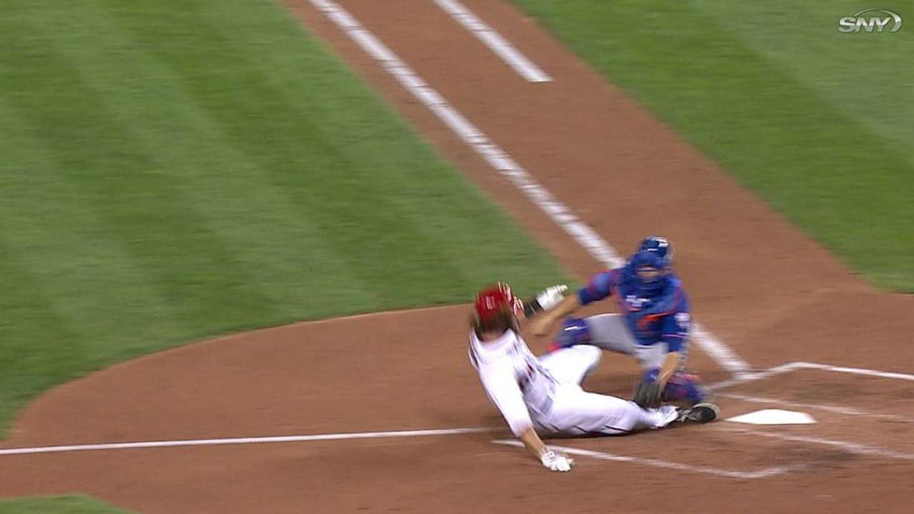 Replay confirms Mets' successful throw home