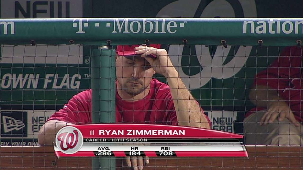 Zimmerman runs on water treadmill