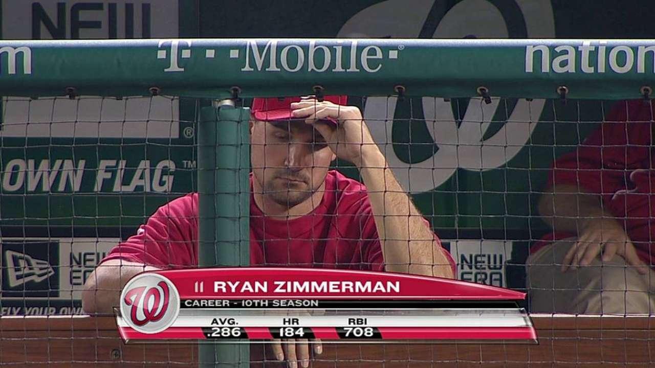 Zimmerman runs on water treadmill