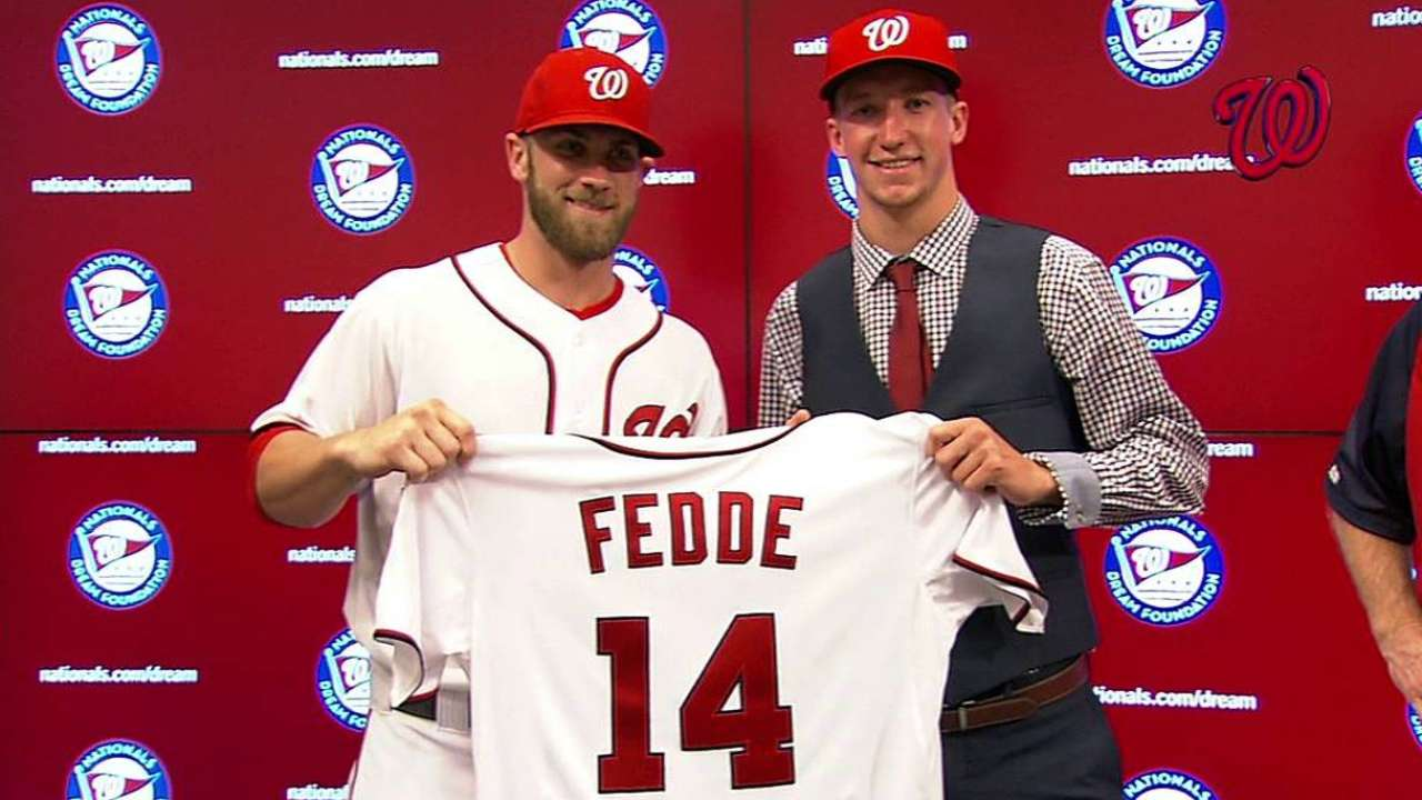 First-round Draft pick Fedde visits Nationals Park