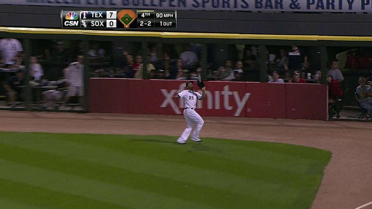 Danks' post-break slide gets worse with Rangers' rout