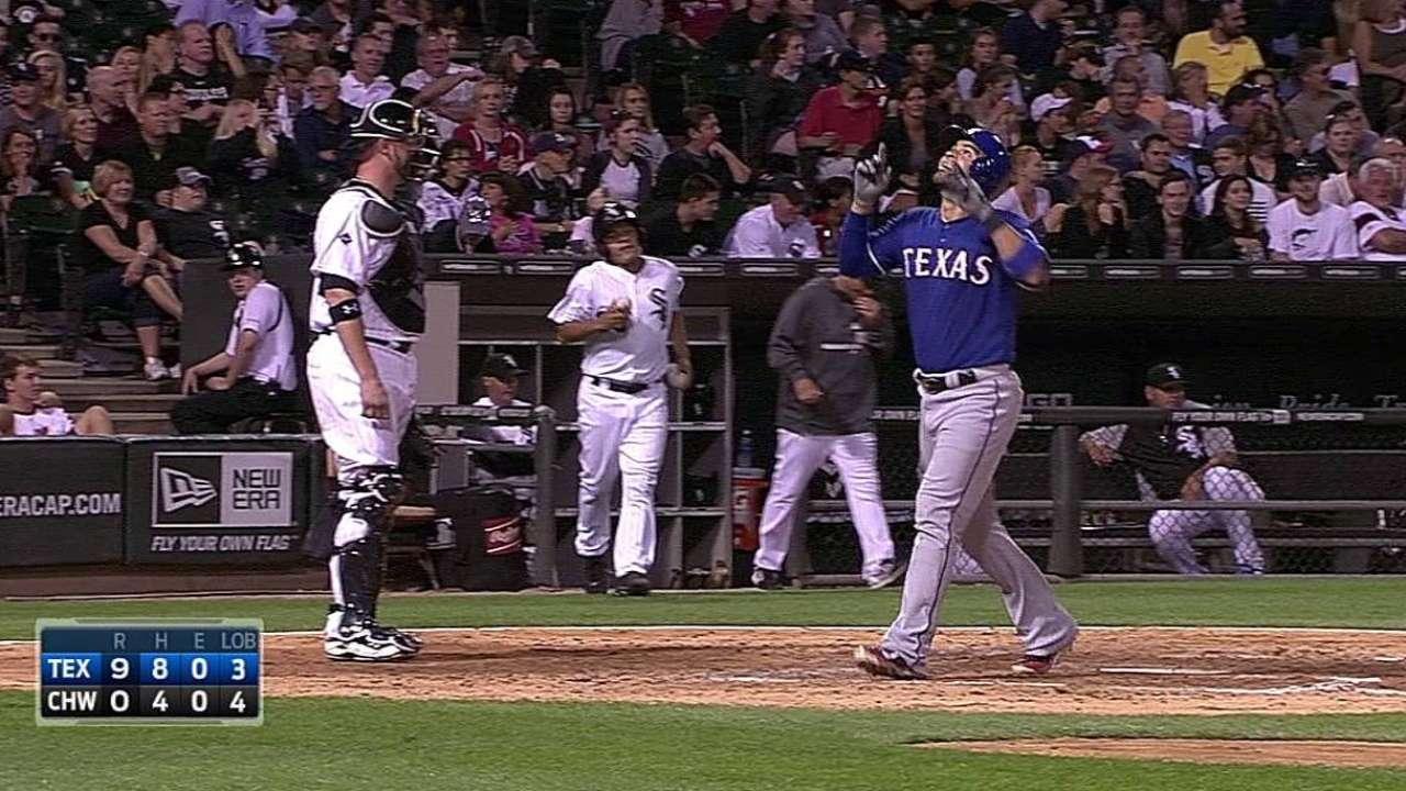 Rangers blanquearon y aplastaron a los White Sox