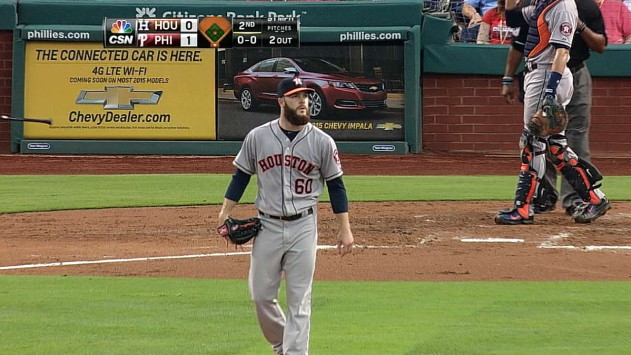 Keuchel invites former host parents to Friday's start