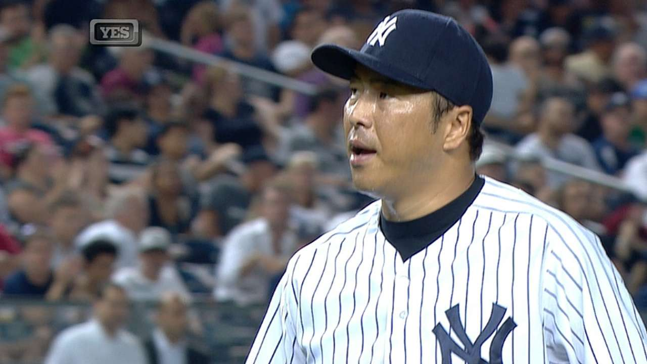 Kuroda to start Sunday against Rays