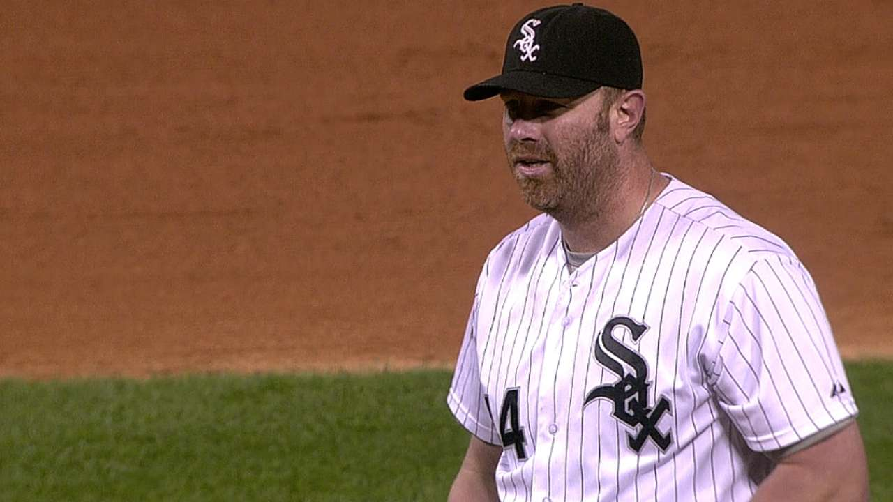 Dunn provides entertainment from mound in loss