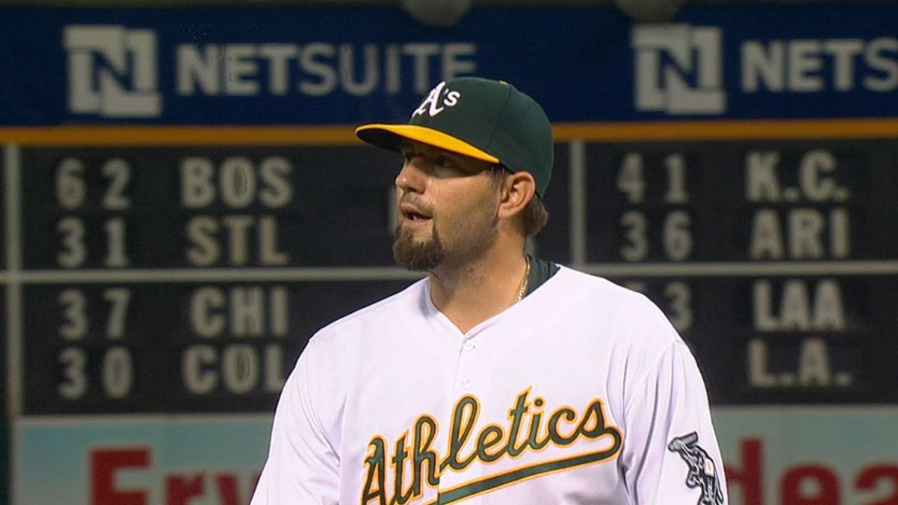 Hammel leads way in shutout, wins first with A's