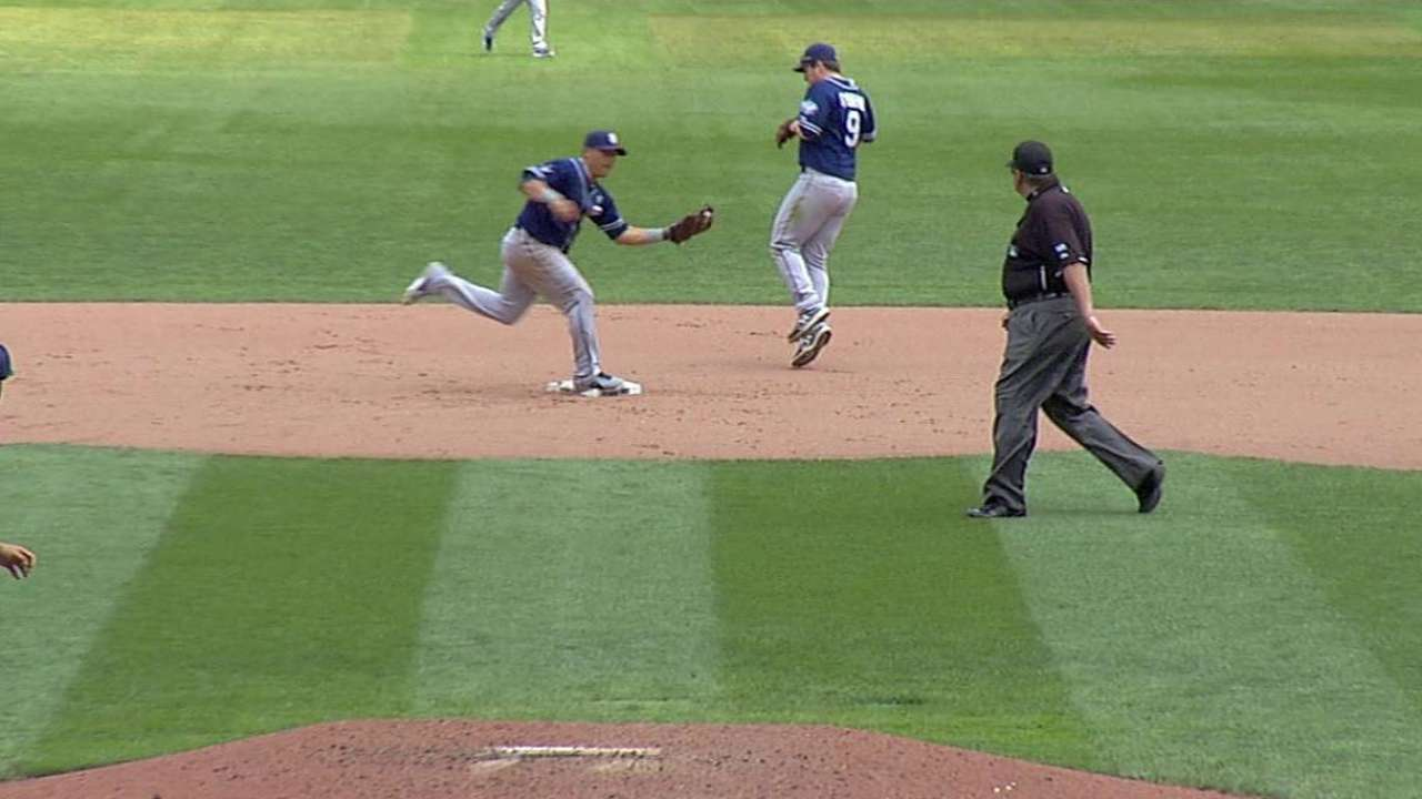 Torres starts double play