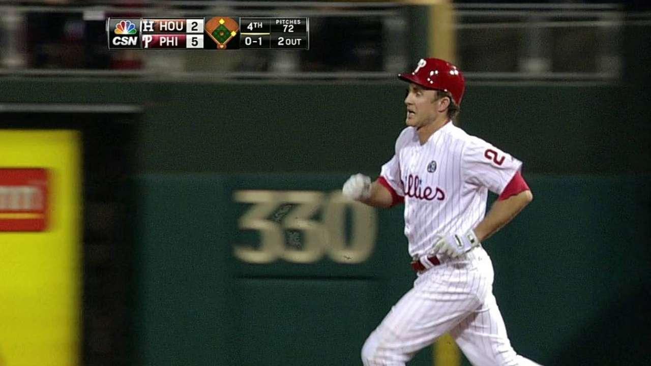 La ofensiva de Filis se hizo sentir contra los Astros