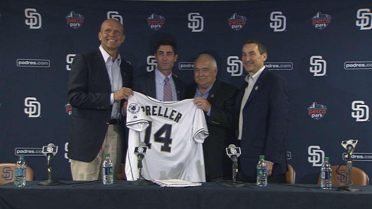 Preller enthusiastic about San Diego's future