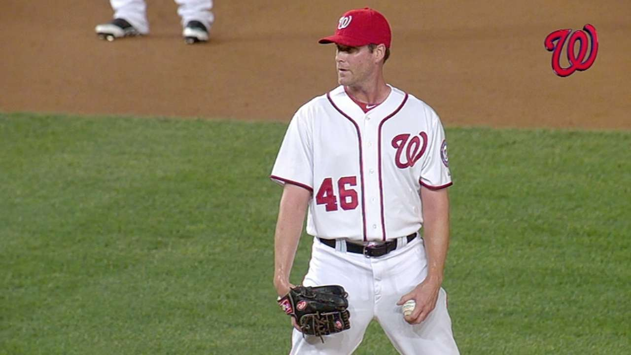 Thornton thriving with Nats by throwing strikes