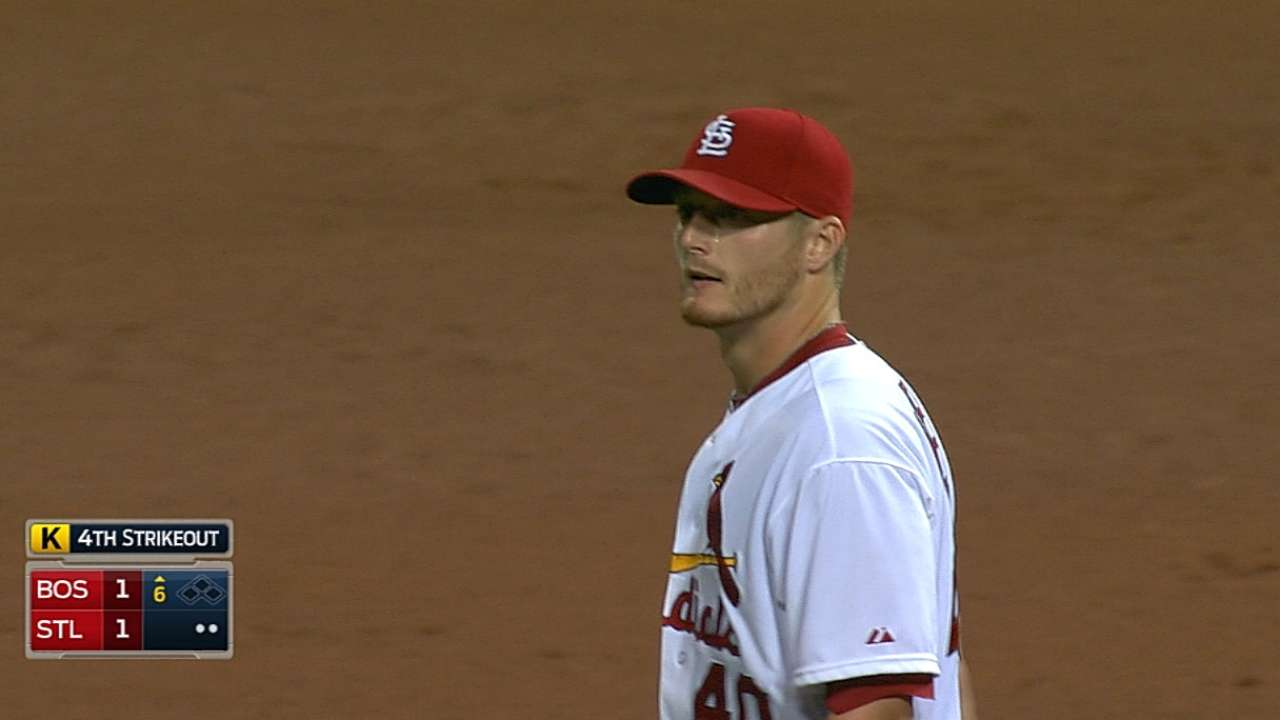 Miller and Kelly evenly matched, but Cards fall