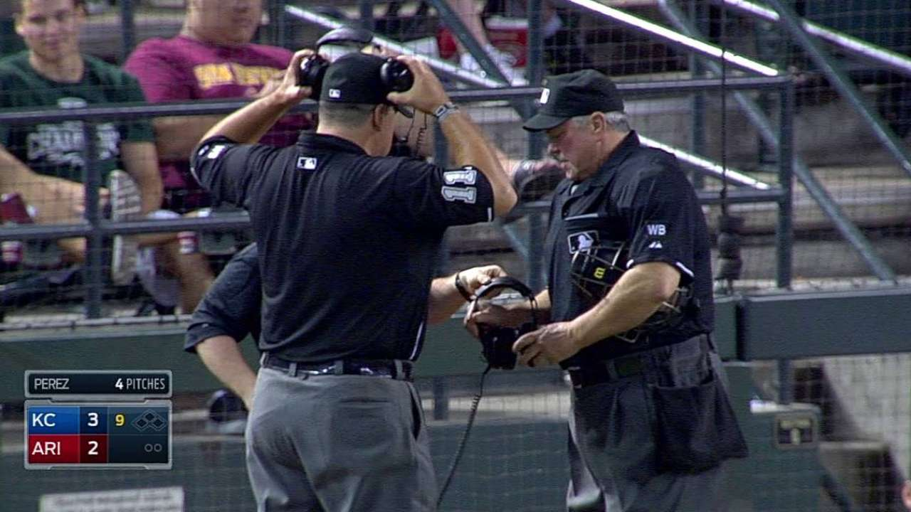 Overturned call looms large in Royals-D-backs game