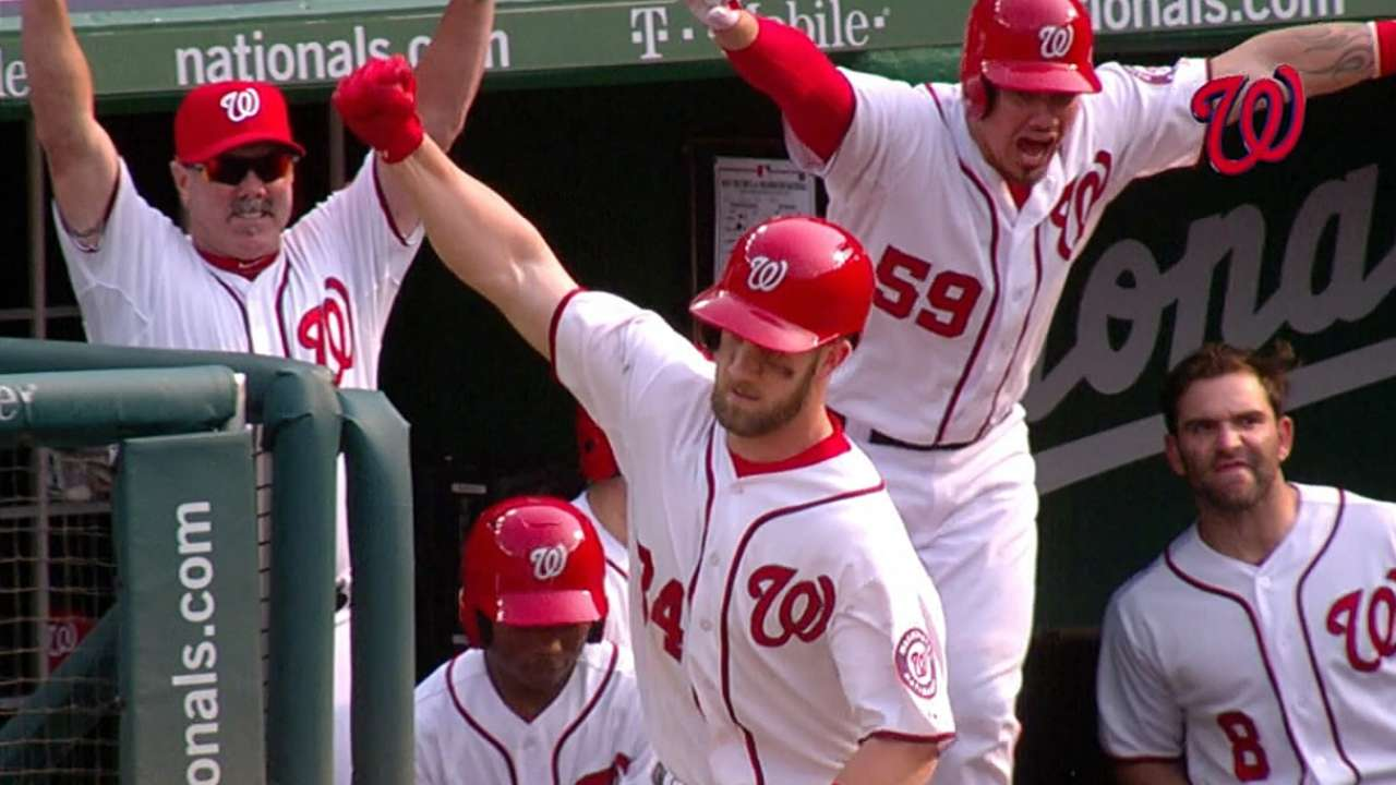 Harper's walk-off blast lifts Nationals in lucky 13th
