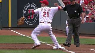 Frazier more comfortable with role at first base