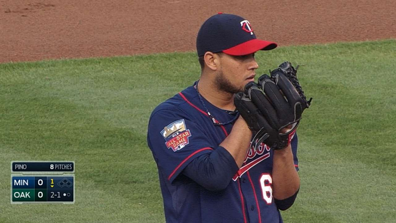 Pino wins as Twins' 26th man for twin bill