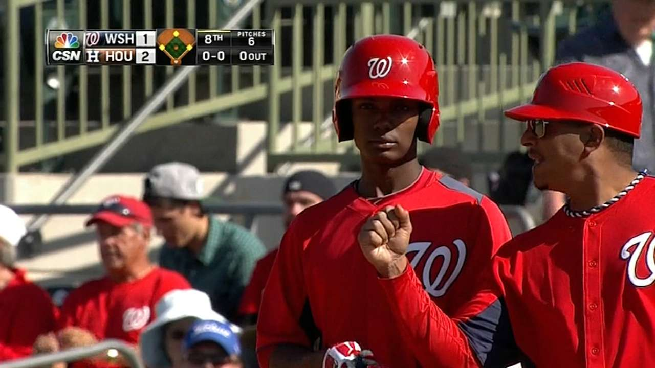 Recently promoted Taylor brings power, speed to Nats