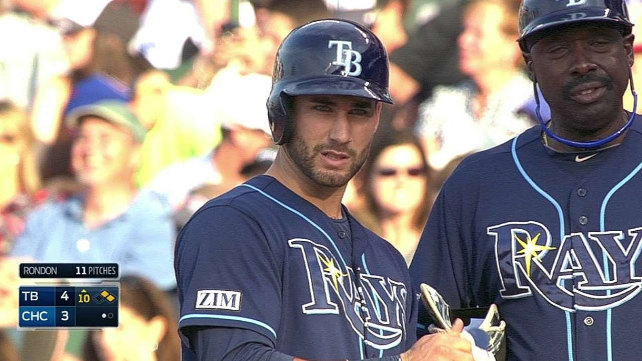 Rays ganan vs. Cubs con el hit de Kiermaier
