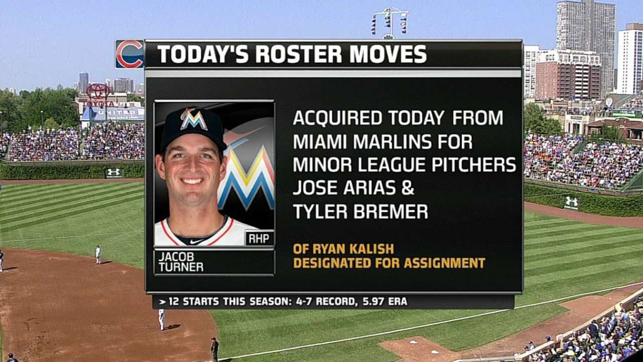 Cubs land former first-rounder Turner from Miami