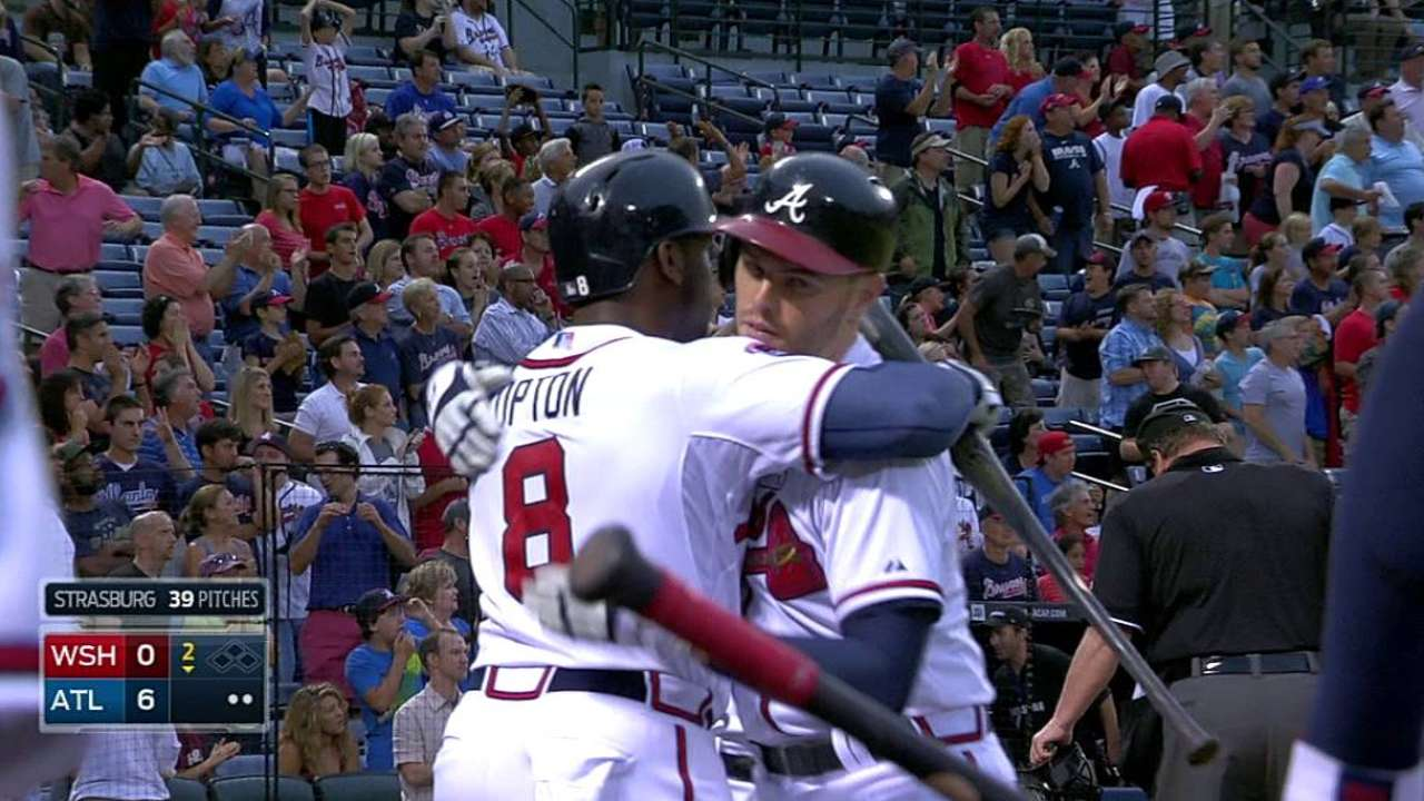 Four homers help Braves snap eight-game skid