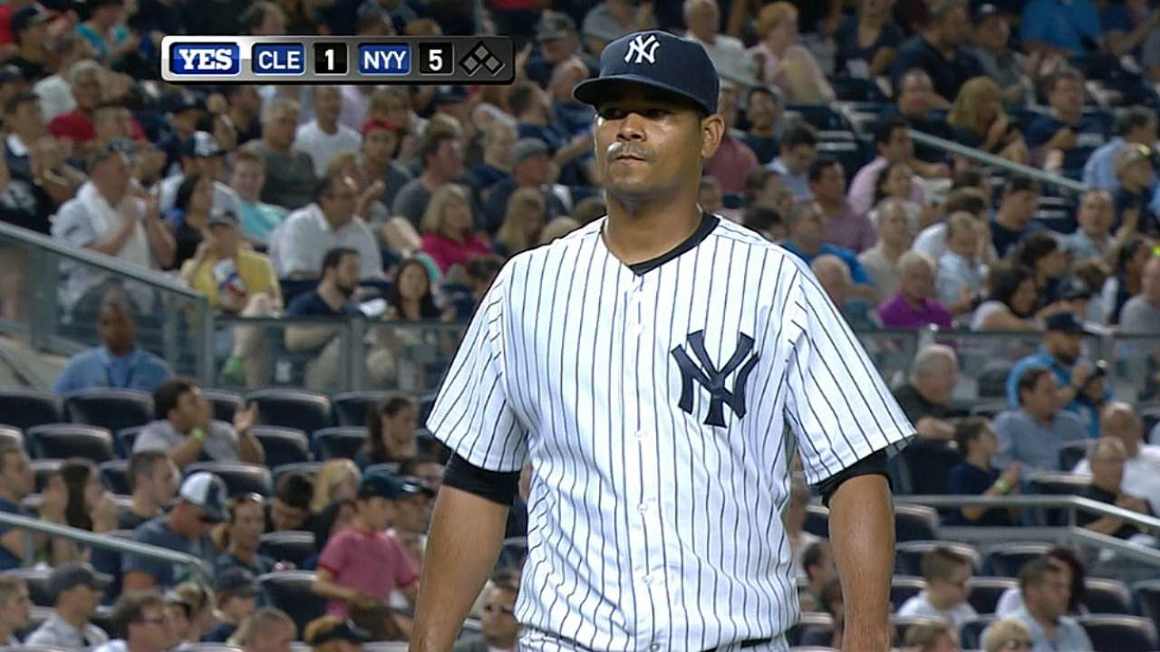 Rogers spot on as Yankees lumber past Tribe