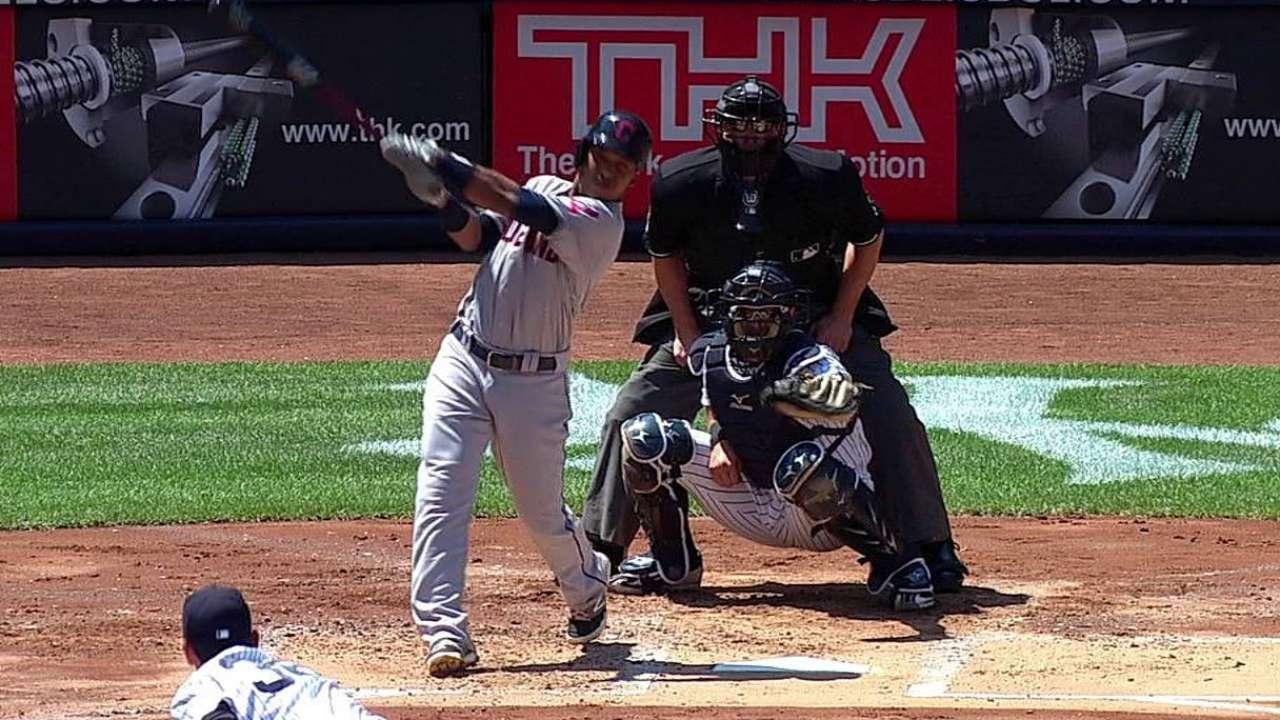 Ramírez sonó HR en triunfo de Indios vs. Yankees