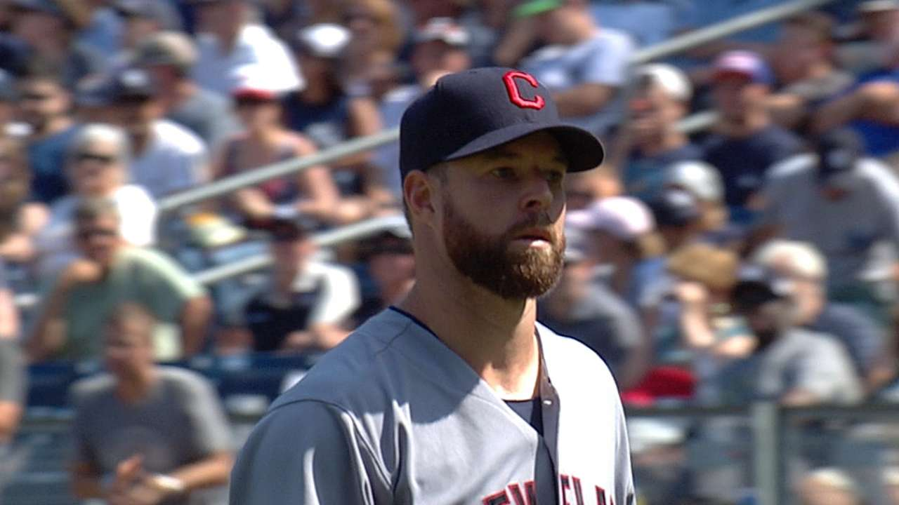 Kluber thanks the rain for ascension to game's elite