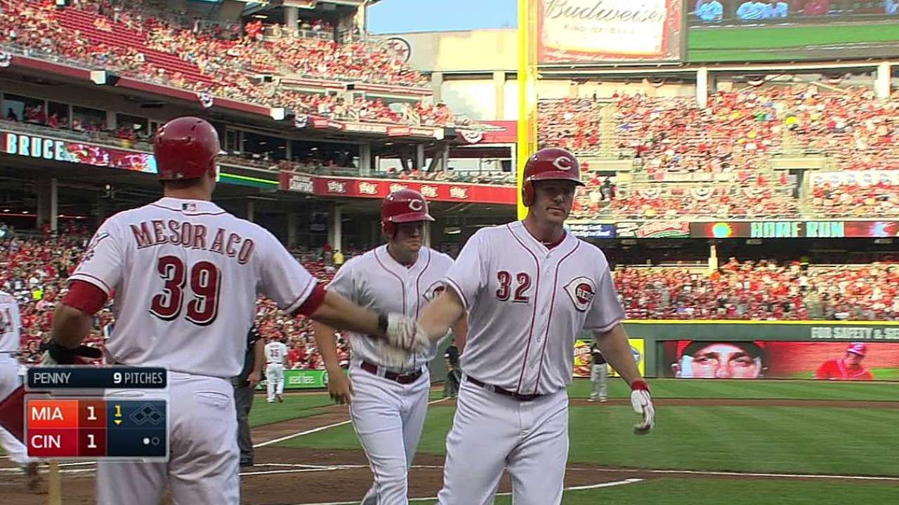 Reds can't cash in against Penny, drop series