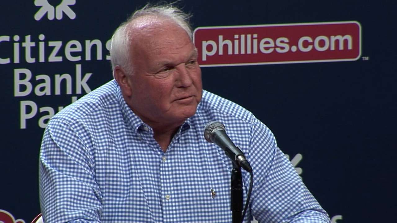 Manuel on being honored by Phils