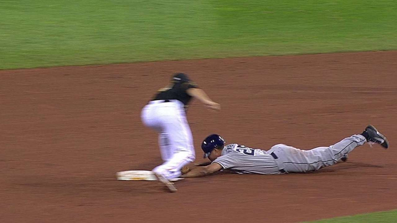 Pirates successfully challenge call on steal attempt